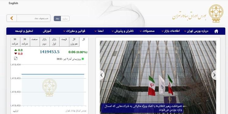 اختلال در سامانههای بورس تهران/مشکل نرم افزار بورس حل شد