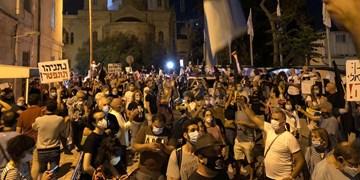 تجمع اعتراضی مقابل اقامتگاه نتانیاهو و حمله خشن پلیس به معترضان