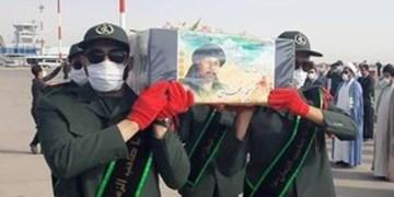 پیکر شهید «نسیم افغانی» برای خاکسپاری به مشهد رسید