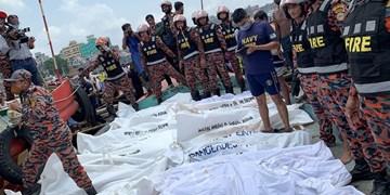 عکس | تصادف مرگبار کشتی در بنگلادش با ۲۸ کشته و دهها مفقود