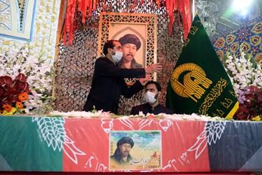 وداع با پیکر شهید نسیم افغانی