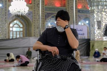 آئین وداع با پیکر شهید «نسیم افغانی»/ رواق امام خمینی حرم مطهر رضوی