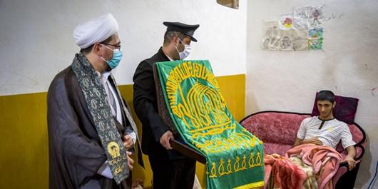 عکس| عطر پرچم  حرم امام رضا(ع) در پایتخت انرژی کشور