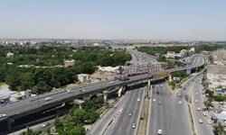 انسداد موقت آزادراه تهران - کرج در محدوده پل کلاک