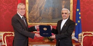 تقدیم استوارنامه سفیر جدید ایران به رئیس جمهور اتریش
