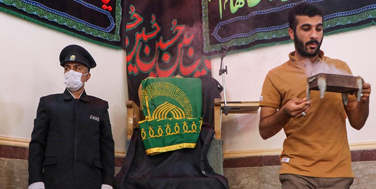 پرچم متبرک رضوی به غیزانیه رسید