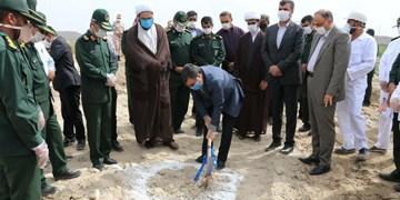 کلنگ شهرک امام حسن عسگری (ع) سپاه هرمزگان به زمین زده شد+عکس