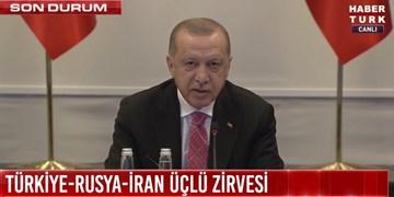 نشست مجازی آستانه  اردوغان: امیدواریم سوریه هر چه سریعتر به ثبات و آرامش برسد