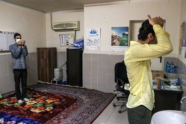 طلاب و گروه های جهادی  در خط مقدم مبارزه با کرونا