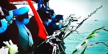 محل شهادت مسافران پرواز ۶۵۵ در خلیج فارس گلباران شد