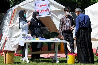 کاروان پزشکی در منطقه «درهتخت» ازنا