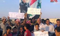 مردم شرق سوریه علیه تحریمهای آمریکا تظاهرات کردند