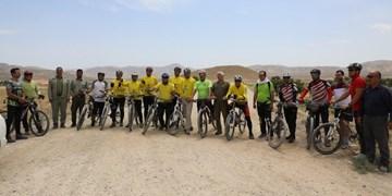 ۲۰ دوچرخهسوار حامی طبیعت کمربند سبز پارک ملی گلستان را رکاب زدند