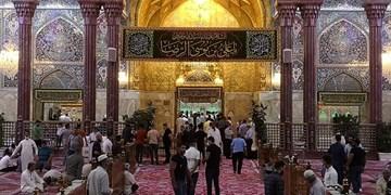 تزئین اعتاب مقدسه عراق همزمان با ولادت امام رضا(ع)+ عکس و فیلم