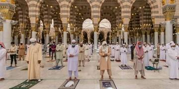 ضدعفونی مسجدالنبی (ص) قبل از برگزاری نماز جمعه +فیلم