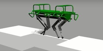 رباتی که از یک پل با عرض 6 سانتیمتر عبور میکند