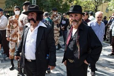 در حاشیه مراسم خاکسپاری مرحوم سیروس گرجستانی