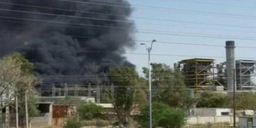 نیروگاه زرگان اهواز دچار آتشسوزی شد+فیلم