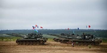 مسابقه تانکها در روسیه + عکس