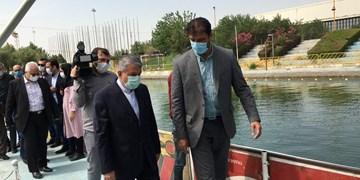 بازدید رئیس کمیته ملی المپیک از دریاچه آزادی/نامگذاری نهالها به یاد درگذشتگان قایقرانی + عکس و فیلم