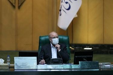 محمدباقر قالیباف رئیس مجلس شورای اسلامی در جلسه علنی مجلس/۱۵ تیر ۹۹