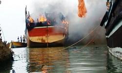 علت آتش سوزی شناور بندر عامری تنگستان در دست بررسی