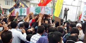 فیلم|مراسم تشییع و تدفین پیکر شهید مدافع حرم سعید کمالی