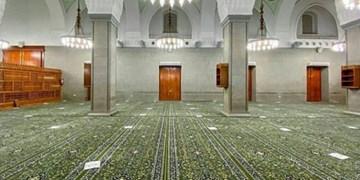 مسجد قبا با فرشهای جدید مفروش شد +عکس