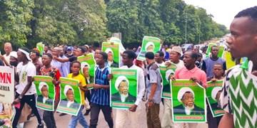 تصاویر | راهپیمایی هواداران «شیخ زکزاکی» در پایتخت نیجریه