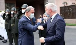 وزرای دفاع ترکیه و ایتالیا در آنکارا دیدار کردند