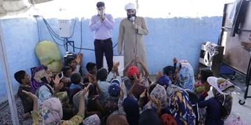 توزیع کمکهای مومنانه در زاج و داربست
