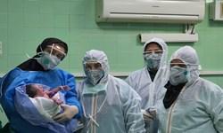 تولد نوزاد سالم از مادر کرونایی در میاندوآب