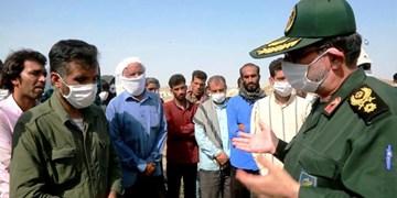 امدادرسانی «سپاه» به روستاهای سیلزده «زاچ و داربست» بشاگرد + عکس