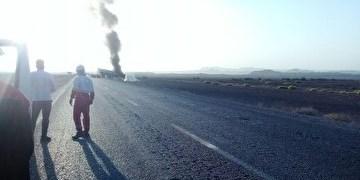 6 کشته و زخمی در حادثه رانندگی محور «طبس-یزد»/  سرنشینان پراید در آتش سوختند