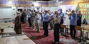 نماز جماعت مساجد اهواز در وضعیت زرد