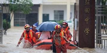 هشدار سیل در چند استان چین در پی بارشهای سیلآسا