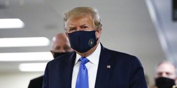 فیلم | ترامپ هم بالاخره از ماسک تنفسی استفاده کرد