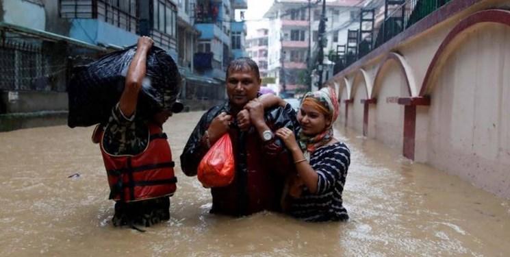 عکس   سیل و رانش زمین در نپال با ۴۰ کشته و هزاران بیخانمان