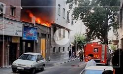 پست برق در خیابان انقلاب دچار حریق شد
