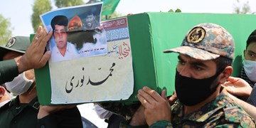 پیکر شهید مدافع حرم محمد نوری در قرچک تشییع شد