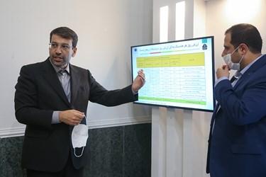ارائه آمار و ارقام سرمایه گذاری توسط محمد رضوانی فر مدیرعامل شرکت سرمایه گذاری تامین اجتماعی به اعضای کمیسیون اجتماعی مجلس یازدهم