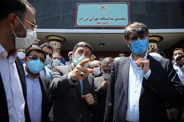 بازدید رئیس بنیاد مستضعفان از زندان بزرگ تهران