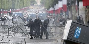 فیلم   تظاهرات ضد دولتی  در فرانسه به خشونت کشیده شد