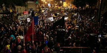 درگیری در تظاهرات بیرون محل اقامت نتانیاهو+ فیلم
