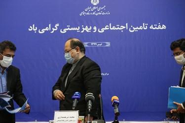 محمد شریعتمداری وزیر تعاون، کار و رفاه اجتماعی پس از پایان نشست خبری