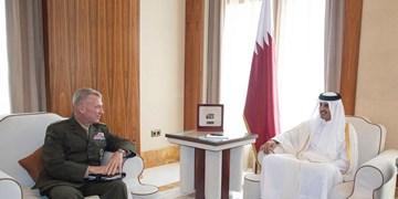 فرمانده تروریستهای آمریکایی «سنتکام» با امیر قطر دیدار کرد