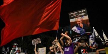 صدها نفر مقابل محل اقامت نتانیاهو تظاهرات کردند