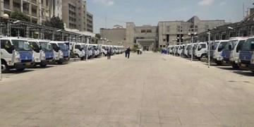 تحویل 30 دستگاه کامیونت شیلر با کاربری حمل پسماند های کرونایی  بیمارستانها