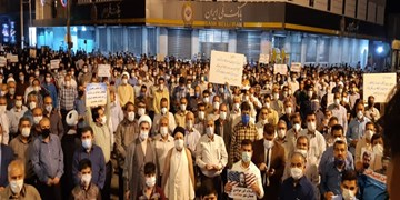 تجمع بهبهانیها در حمایت از مطالبات معیشتی و محکومیت هنجارشکنان +فیلم