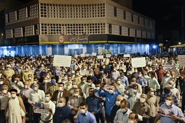 تجمع مردم بهبهان در حمایت از مطالبات معیشتی و  محکوم کردن اقدامات هنجارشکنان در چهارراه بانک ملی